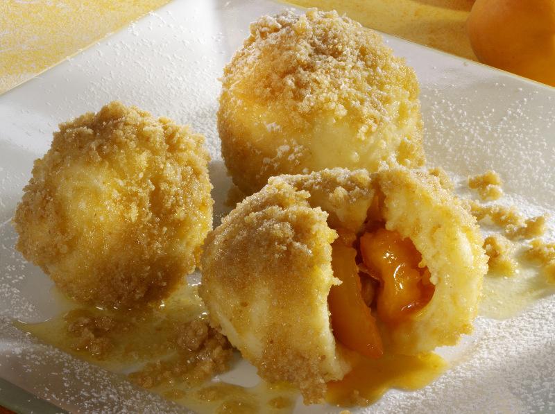Austrian dessert apricot pastry