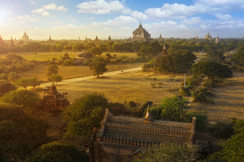 Bagan skyline Myanmar