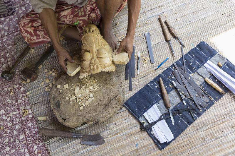 Bali mask making