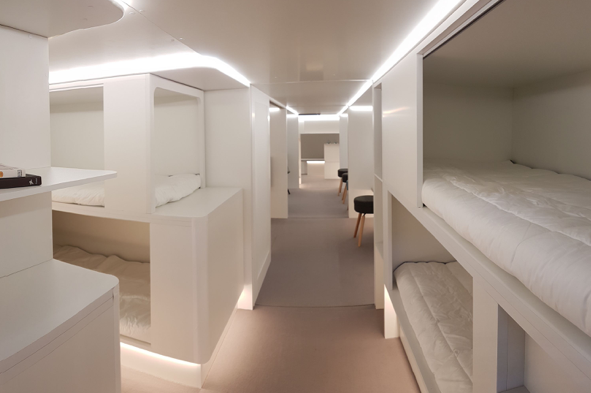 Beds in Cargo Hold