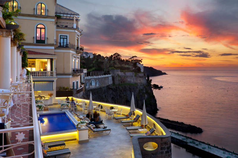 Bellevue Syrene hotel has incredible views across the bay of Naples