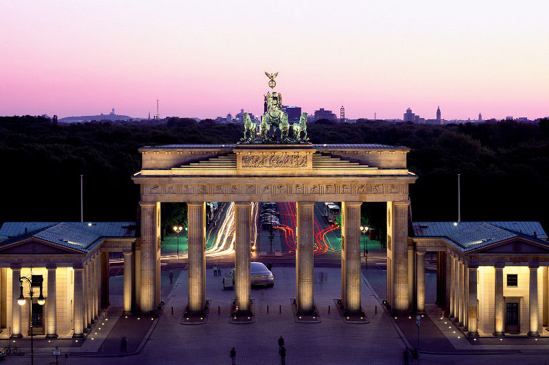 The Brandenburg Gates in Berlin