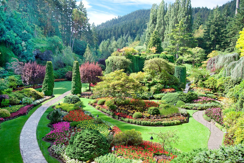 Buchart formal gardens in Victoria, Canada