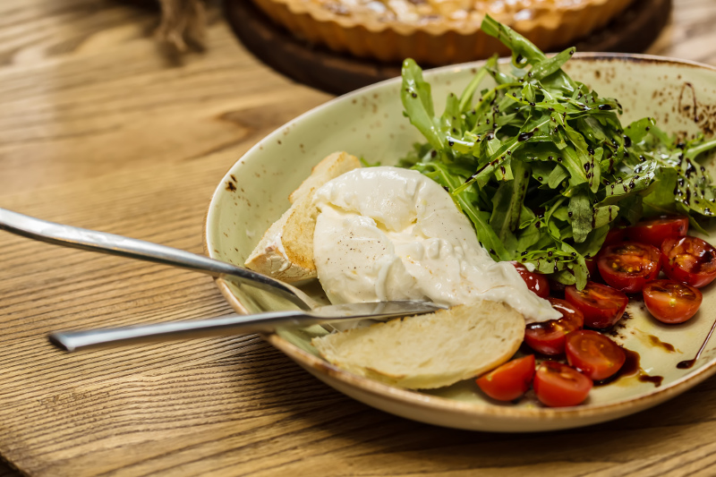 Burrata cheese has a softer, more liquefied texture than mozzarella
