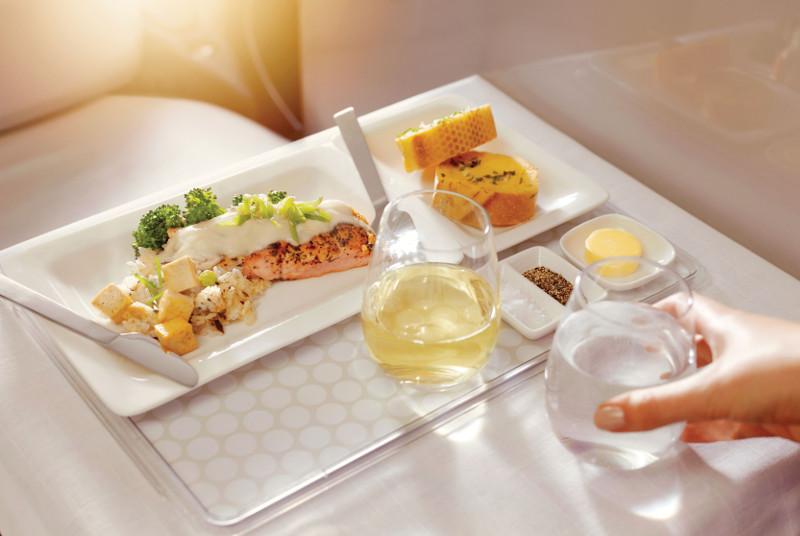 Air New Zealand first class dining