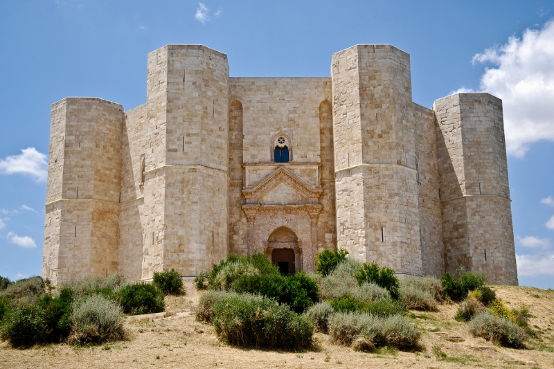 The UNESCO listed Castel del Monte has a remarkable octagonal shape