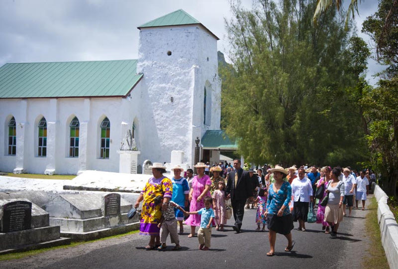 Church service Cook Islands