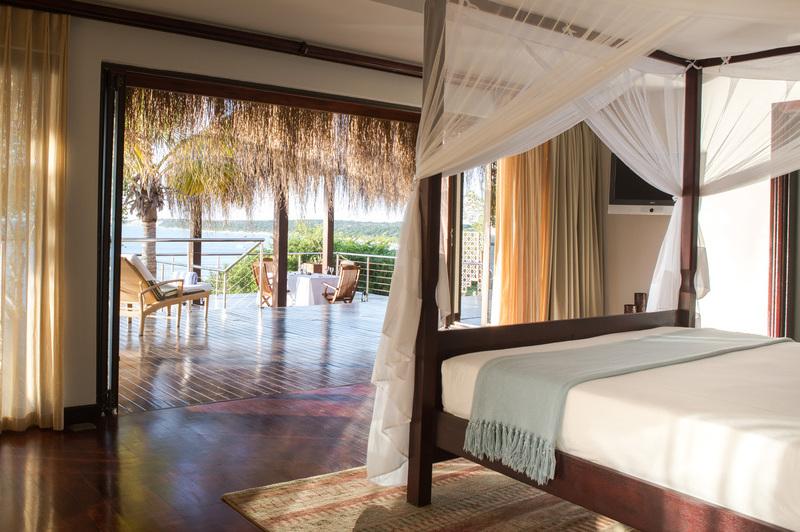 Beautiful bedroom in island resort villa