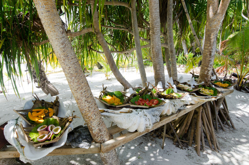 Tropical banquet Cook Islands