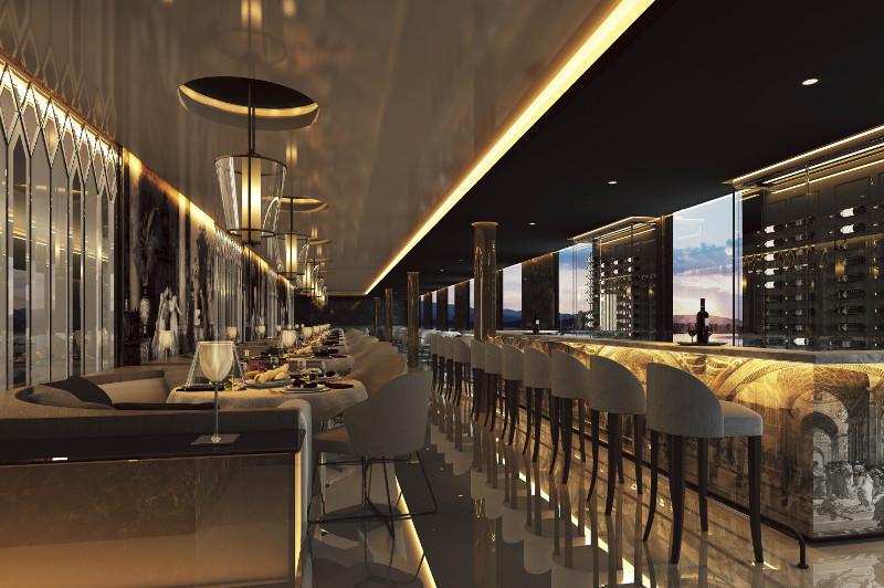 CGI of restaurant aboard Scenic Eclipse