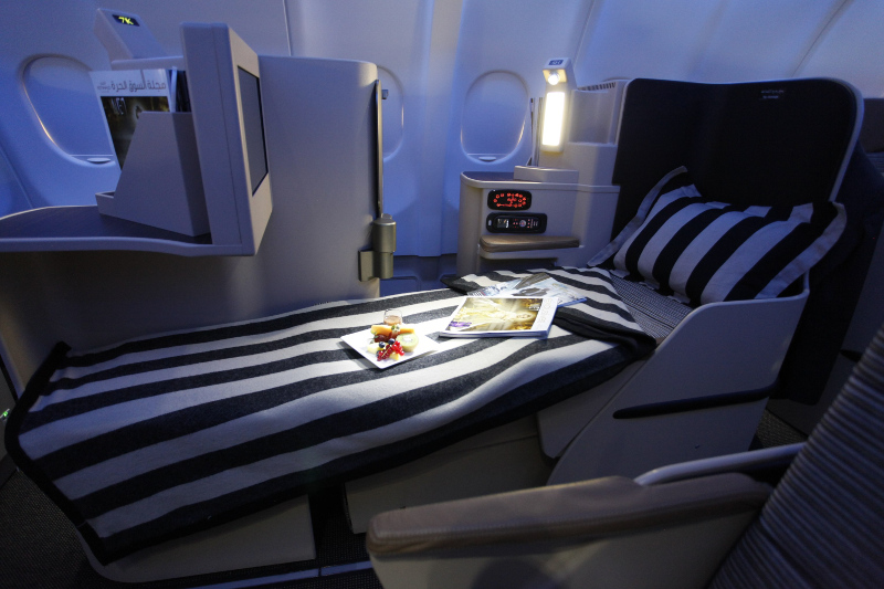 Etihad Airline seat