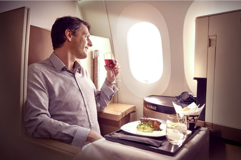 Etihad Business Class Review - Dining