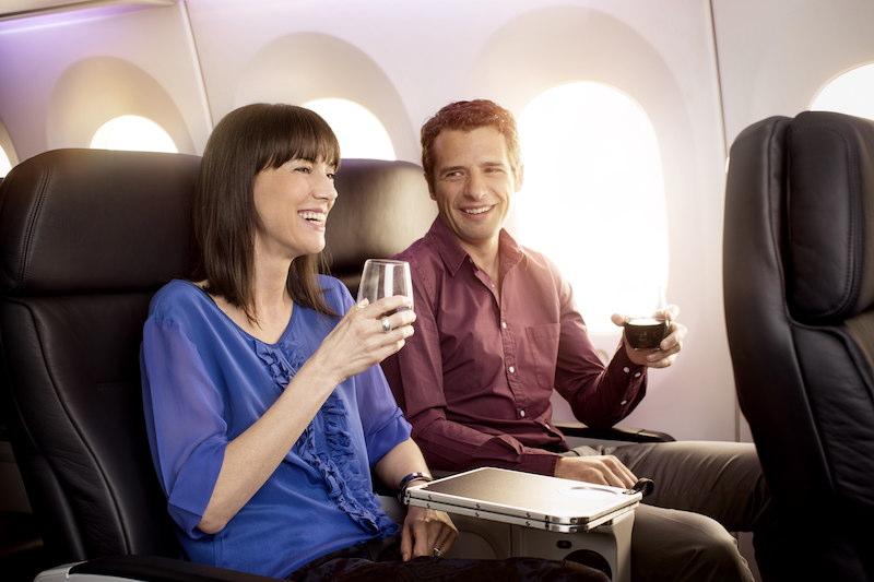Air NZ Premium Economy beverages
