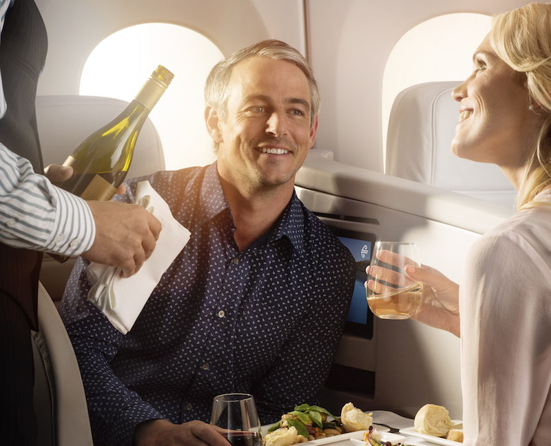 Air NZ dining