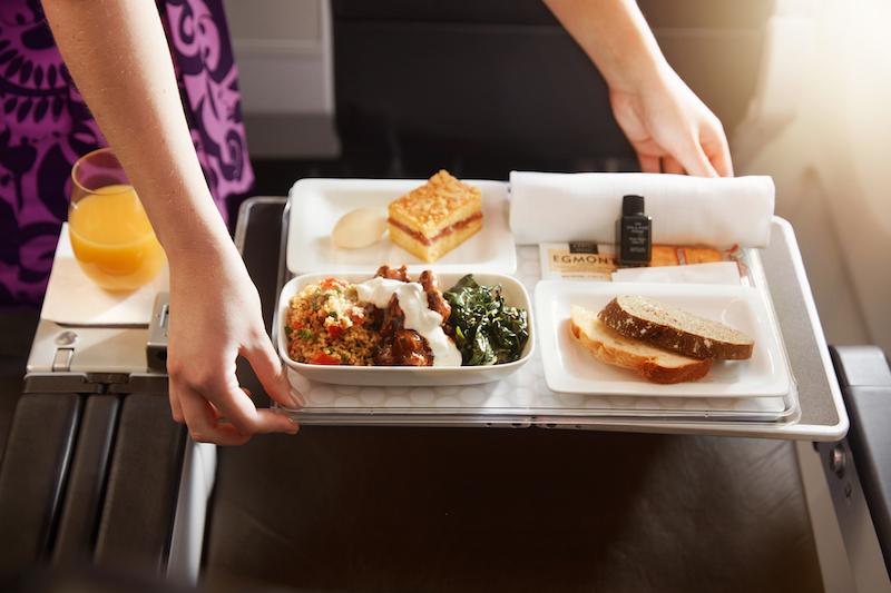 Air Premium Economy dinner