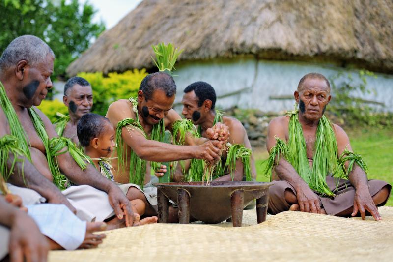 Fiji village kava ceremony