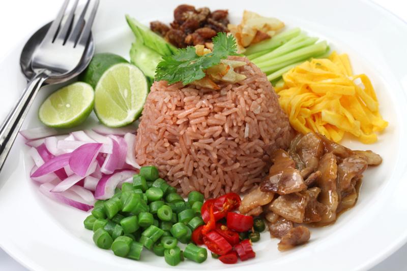 Khao khluk kapi Thai food