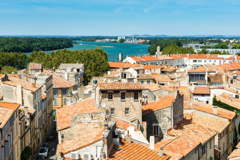 Travel Associates ancient city of arles and river in france