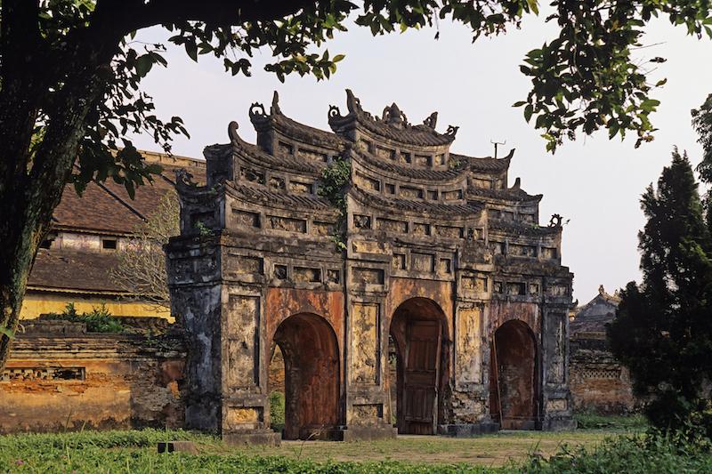 Ancient gate at Hue citadel
