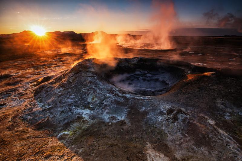Hverarond Hverir Geothermal Field Iceland