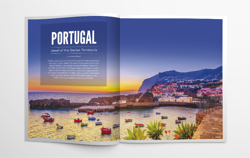 Magazine feature on Portugal travel