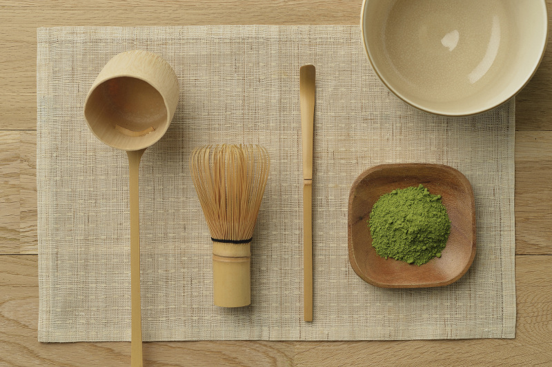 A Japanese Tea Ceremony Drinking Matcha With A Maiko