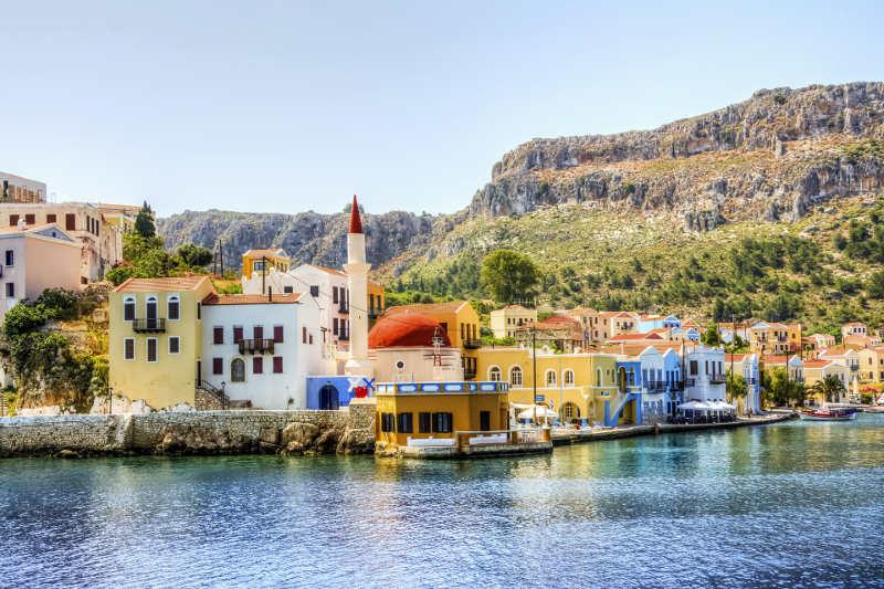 The beautiful seaside mansions of Kastellorizo