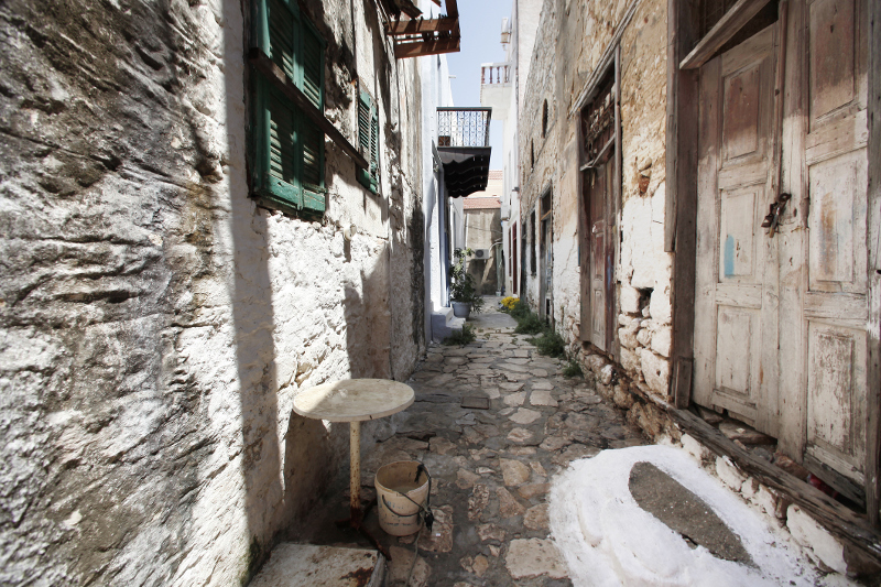 The cobbled streets of Kastellorizo