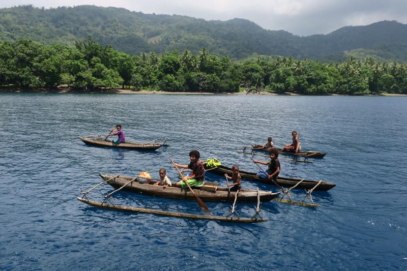 Local Outriggers Papua New Guinea