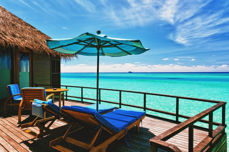 Lounge Chairs in Overwater Bungalow