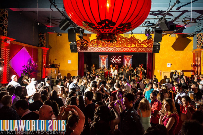 Colourful dancers at Lula Bar, Toronto
