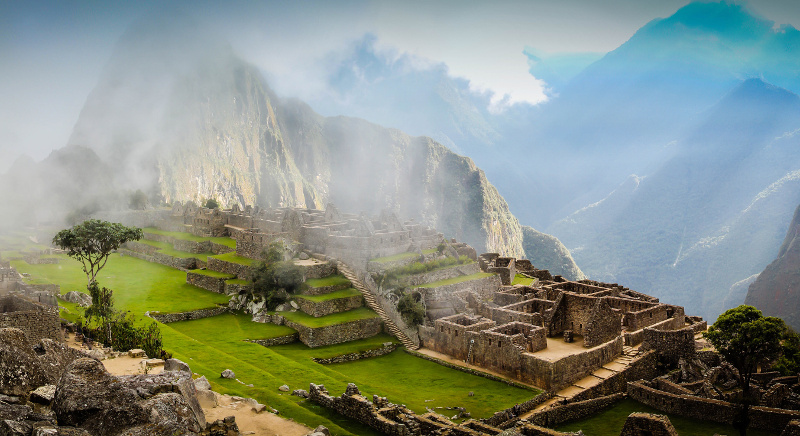 Machu Picchu shrouded in mist