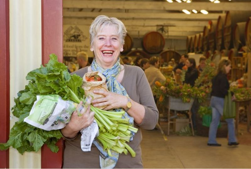 Maggie Beer at Adelaide Central Market