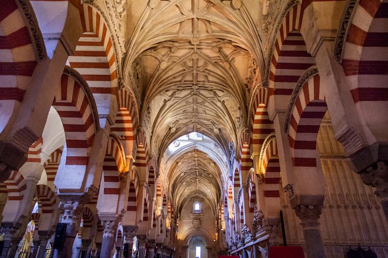 The Mezquita de Cordoba Cathedral arches