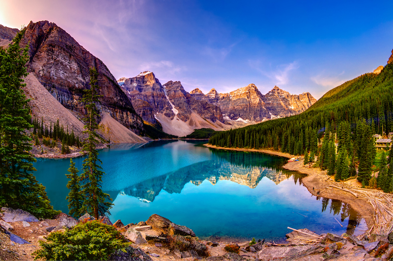 Moraine Lake and The Valley of Ten Peaks
