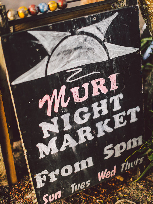 Muri Night Markets sign Cook Islands