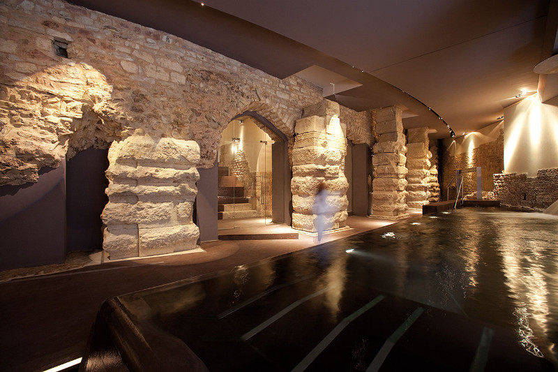 Spa with historic Roman foundations