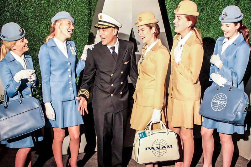 Pan Am Stewardesses and Pilot