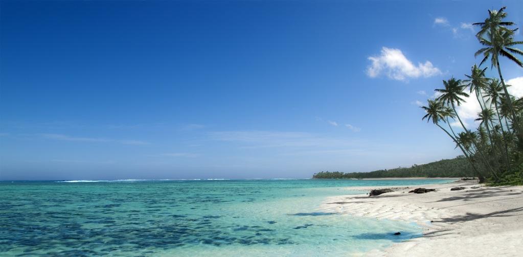 Panoramic Beach View in Fiji