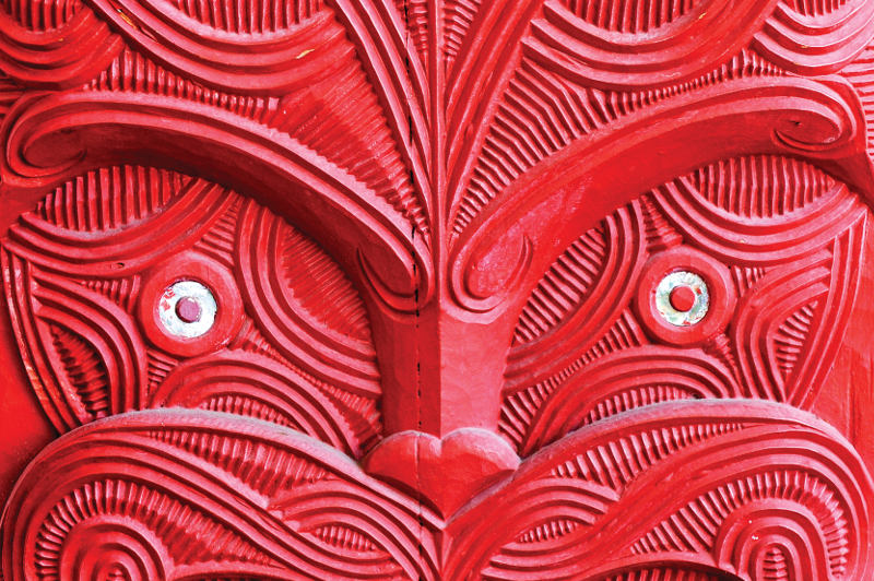 Maori wooden carved mask