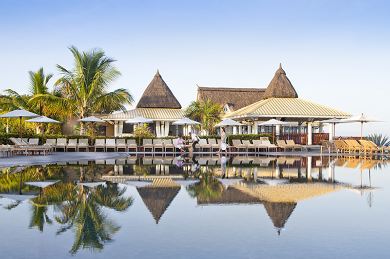 The truly luxurious Club Med La Plantation D'Albion resort is nestled between sea and mountains.