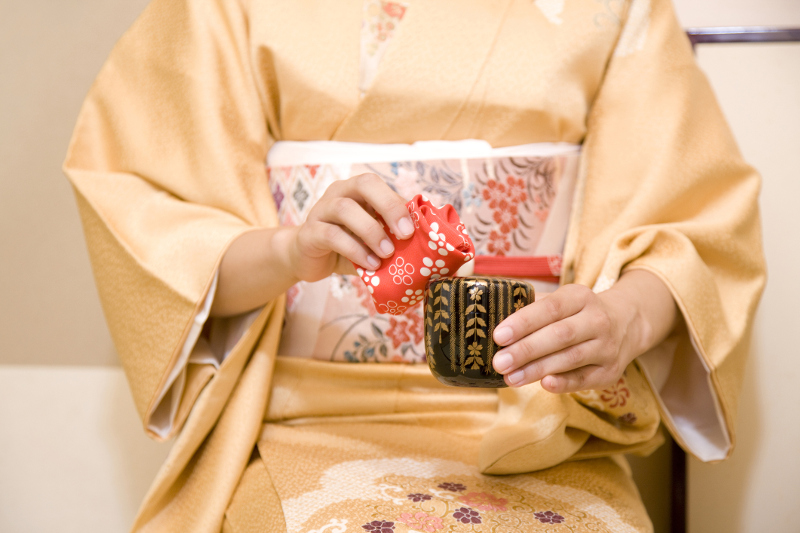 Purification Japanese tea ceremony