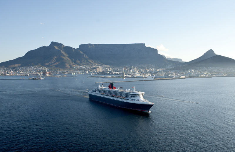 Cunard Queen Mary in port at Capetown