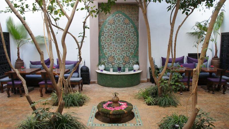 Riad Morocco courtyard