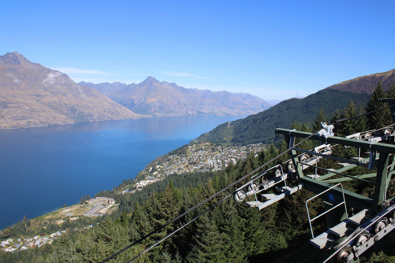 view of queenstown lake wakatipu from bobs peak gondola