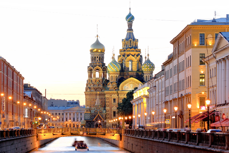 The fabulous spires of the Church of the Saviour on Spilled Blood