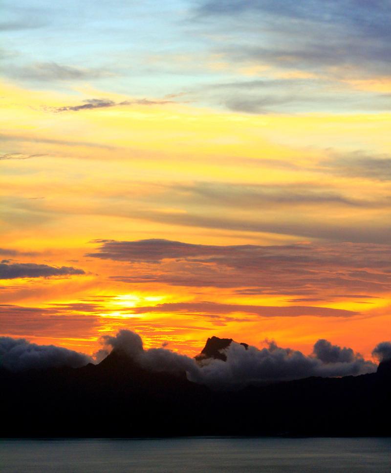 Sunset views Tahiti