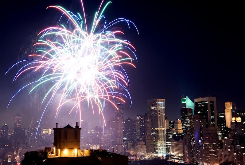 Fireworks over Central Park