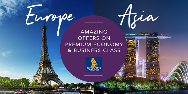 Singapore Airlines - Europe and Asia fares