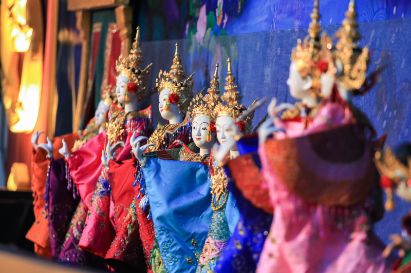 Exquisite traditional Thai puppets